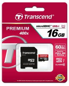 Transcend microSDHCカード 16GB